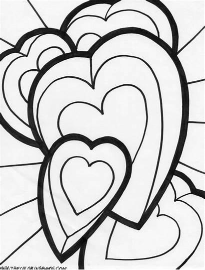 Coloring Hearts Roses Desenhos Colorir Namorados Dia
