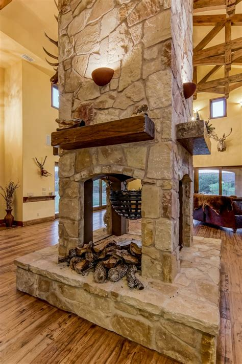 decoracion chimeneas rusticas  calidez en  creaciones