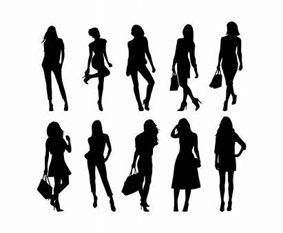 Woman Vector Silhouette Silhouettes Svg Illustration Freevector