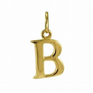 9ct gold letter b charm With gold letter b charm