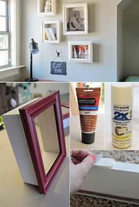 Jugendzimmer Gestalten Ideen Bilder : wand gestalten mit diy deko aus bilder rahmen freshouse ~ Buech-reservation.com Haus und Dekorationen