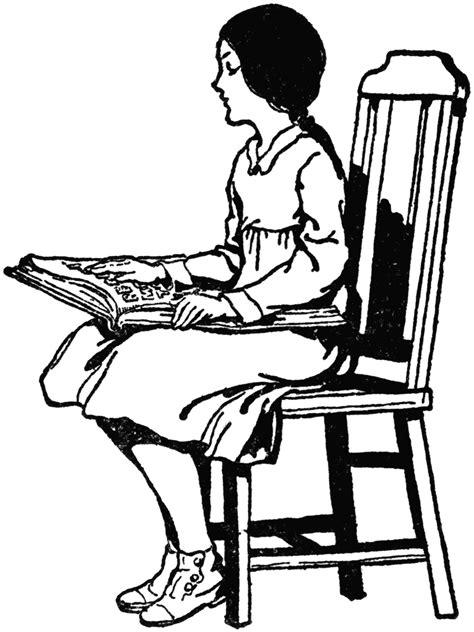Blind Girl Reading Braille | ClipArt ETC