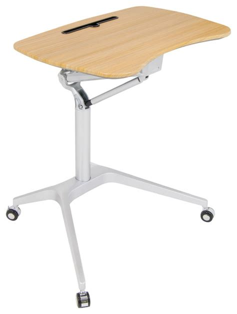 mobile sit stand desk studio ridge mobile desk sit to stand up pneumatic cart