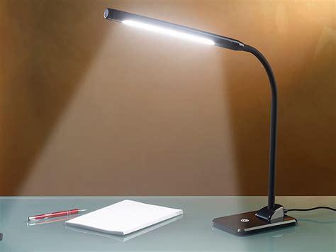 Lunartec Tisch Leselampe: LED Schreibtischlampe 7 W mit