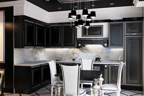 black and silver kitchen designs кухня студия в стиле хай тек с преобладание черного цвета 7842