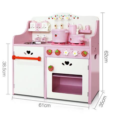 pink play kitchen accessories children wooden kitchen play set pink 4234