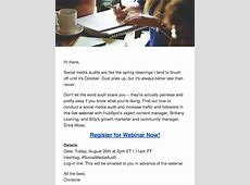 How to Use Email Marketing to Promote Your Next Webinar