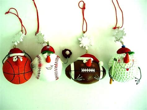 sports christmas ornaments invitation template