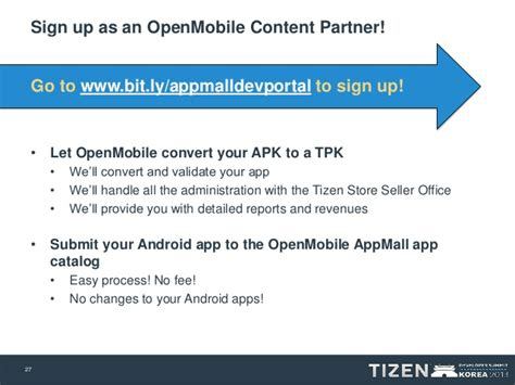 openmobile acl bringing android apps  tizen