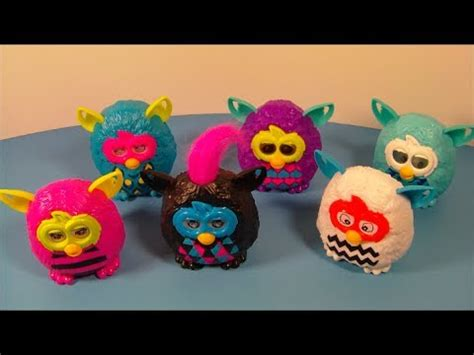 2013 FURBY BOOM SET OF 6 McDONALD'S HAPPY MEAL KID'S TOY'S VIDEO REVIEW - YouTube