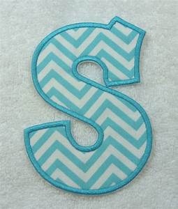 5 chatty monogram letter fabric embroidered iron on With monogram fabric letters