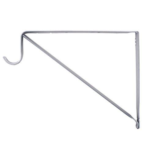 closet rod bracket home depot everbilt 10 3 4 in platinum shelf and rod bracket hd 0045