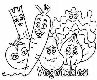 Coloring Vegetable Pages