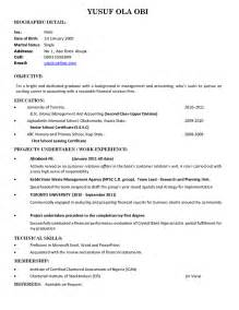 business resume sle fresh grad sle resume for fresh graduate without work experience resume sles