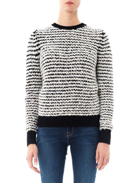 marant sweater étoile marant canelia stripe sweater in black for
