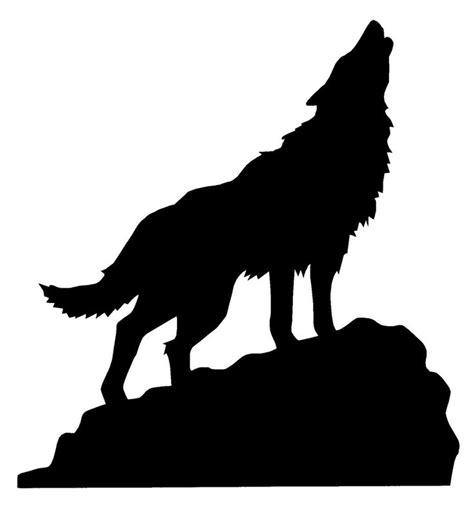 pin  danielle peterson  tattoos wolf silhouette