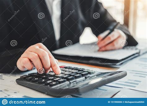Business Woman Accounting Financial Investment On ...
