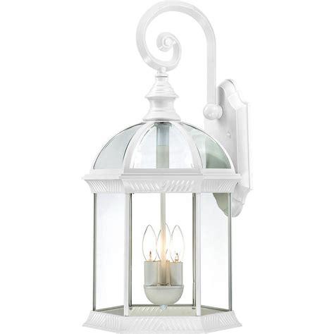filament design 3 light white outdoor wall mount lantern hd 604967 the home depot