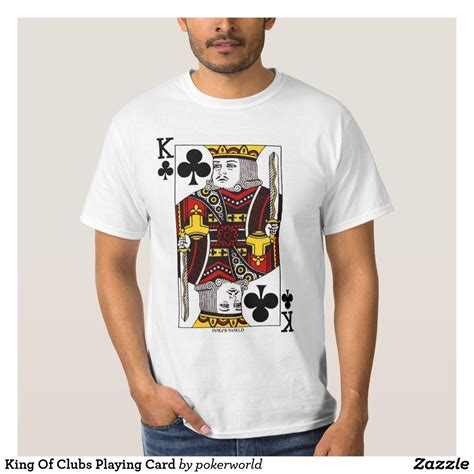 It's also interesting to share some amazing facts about the king cards that will. King Of Clubs Playing Card T-Shirt | Zazzle.com (With images) | Club shirts, Playing cards, Shirts