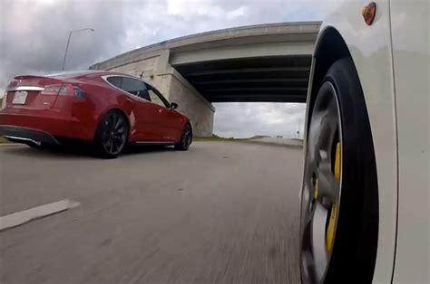 2015 Tesla Model S P85d Races A Ferrari 458 Italia