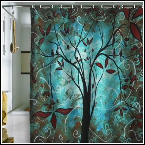 Teal And Brown Floral Curtains   Curtains : Home Design