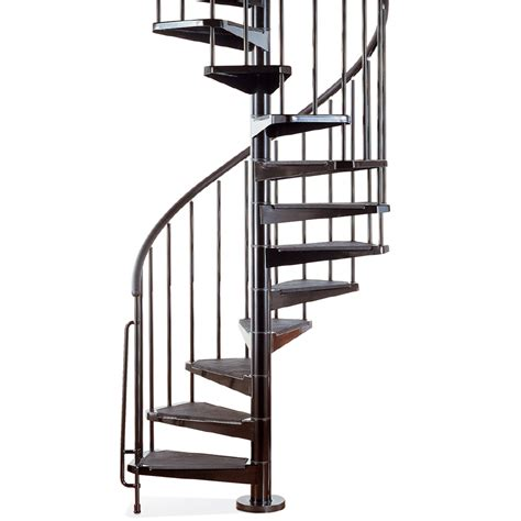 shop arke civik 63 in x 10 ft black spiral staircase kit