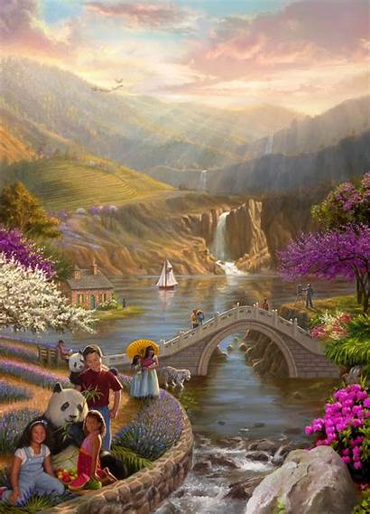 Paradise Fine Salazar Ed Artist Illustrations Portraiture