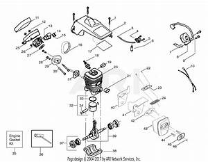 Poulan 2075 Le Gas Saw Parts Diagram For Engine Assembly