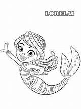 Lorelai Santiago Seas Coloring Mermaid Zeemeermin Kleurplaat Meerjungfrau Meere Malvorlage Ausmalbilder Persoonlijke Maak Votes sketch template