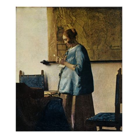 in blue reading a letter vermeer s in blue reading a letter ca 1665 zazzle 25664