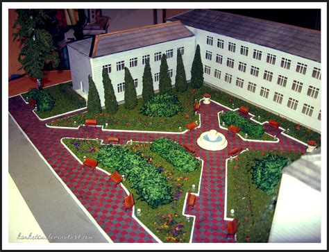 garden models maquettes on i am architect deviantart