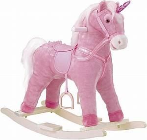 Cheval A Bascule Rose : cheval bascule rose jouet bascule 3 ans peluche ~ Teatrodelosmanantiales.com Idées de Décoration