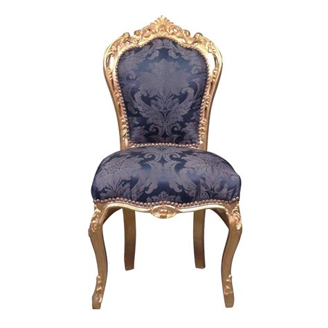 chaise bleue chaise baroque bleue style rococo