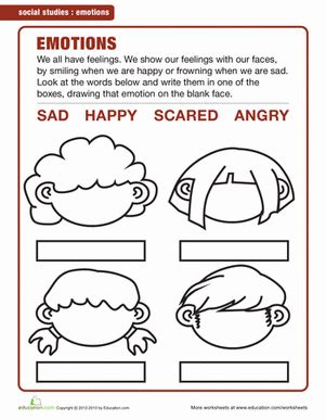 senses and feelings worksheet education 212 | understanding feelings social skills kindergarten