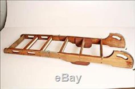 Vintage Boat Ladder by Vtg Wood Boat Ladder Folding 6 Rung Step Teak Wooden Sail