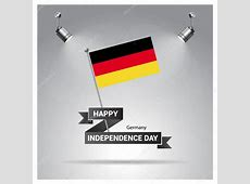 Cartel día de la independencia de Alemania — Vector de