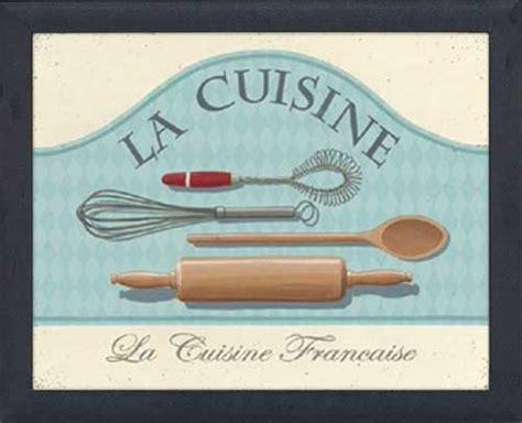 cuisine à la française la cuisine framed canvas