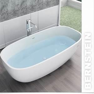 Freistehende Badewanne Mineralguss : freistehende badewanne aus mineralguss ocean weiss ebay ~ Michelbontemps.com Haus und Dekorationen