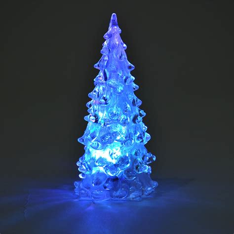 led christmas night lights icy crystal led christmas tree decoration night light