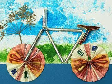 modell fahrrad aus metall geldbote fuer geldgeschenke