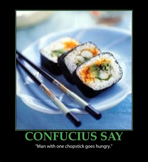 funny chopstick quote poster sushi humour humor