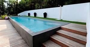 Piscine En Acier : piscine semi enterr e en acier avantages et inconv nients ~ Melissatoandfro.com Idées de Décoration
