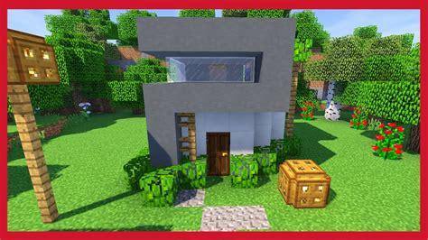 minecraft come costruire una piccola casa moderna