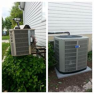 Replaced An Old York Air Conditioner With A New Ac Unit