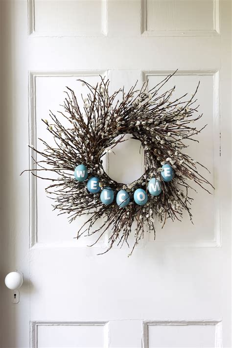 outdoor easter wreaths spring  easter wreath decor