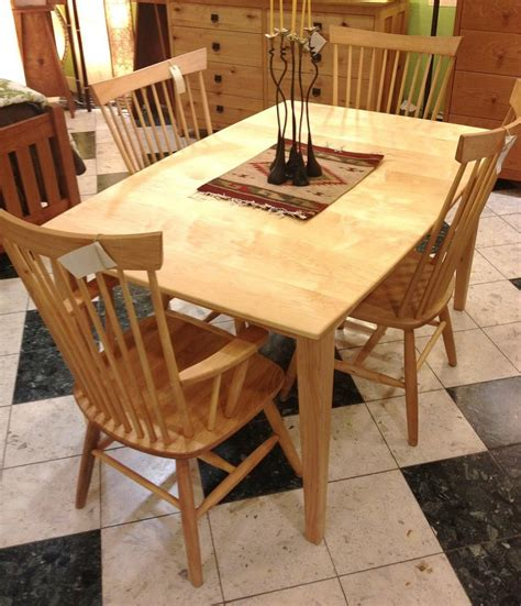 solid maple boat shaped quot prairie quot dining table boulder