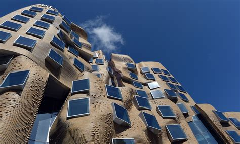 frank gehry   crumpled paper bag building
