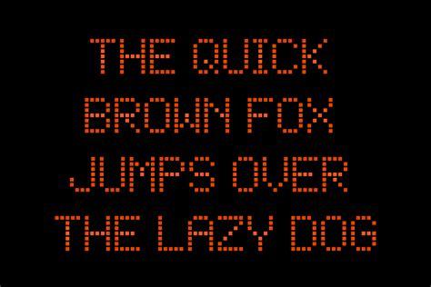 Billboard Illustration square dot matrix display font krafti lab 1820 x 1214 · jpeg
