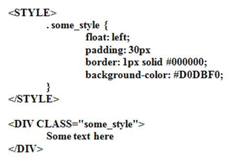 Div Style Float - div style font color htmlcode