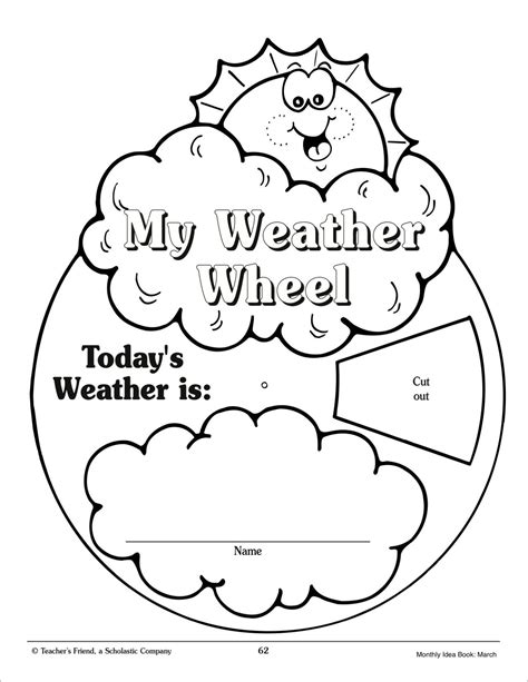 weather wheel march monthly idea book printables